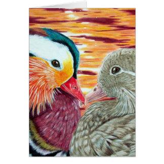 Cartão Patos no amor