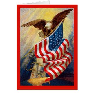 Cartão patriótico de Eagle