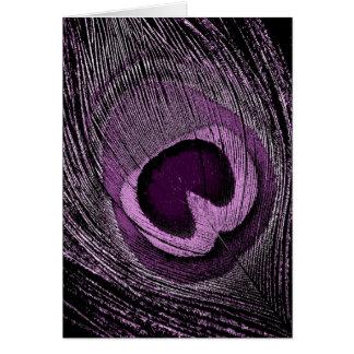 Cartão Pavão roxo