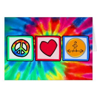 Cartão Paz, amor, Bodybuilding