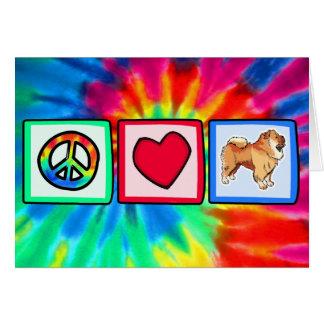 Cartão Paz, amor, comidas de comida