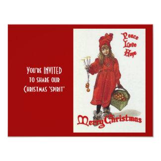Cartão Paz, amor e esperança no Natal