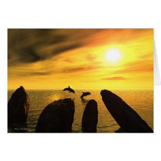 Cartão Pedras do golfinho