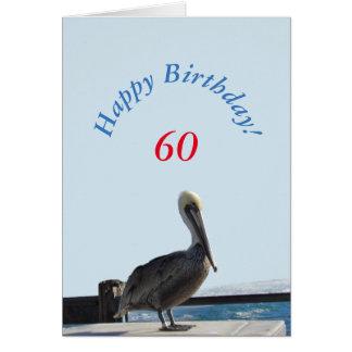 Cartão - pelicano do feliz aniversario
