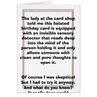 Cartão Pensamentos puros