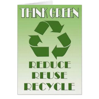 Cartão Pense verde