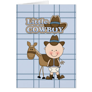 Cartão pequeno BabyShower do vaqueiro, bebê novo,