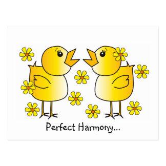 Cartão perfeito da harmonia cartão postal