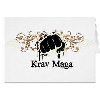 Cartão Perfurador de Krav Maga