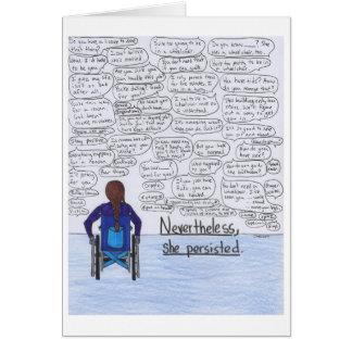 Cartão Persistiu (a cadeira de rodas)