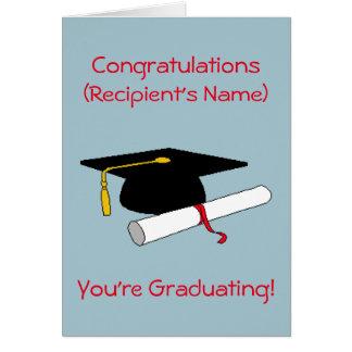 Cartão personalizado da graduação