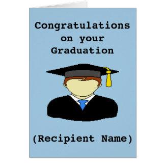 Cartão personalizado dos parabéns da graduação
