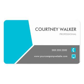Cartão personalizar-capaz de turquesa conservadora cartão de visita