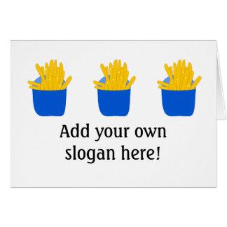 Cartão Personalize este as batatas fritas gráficas