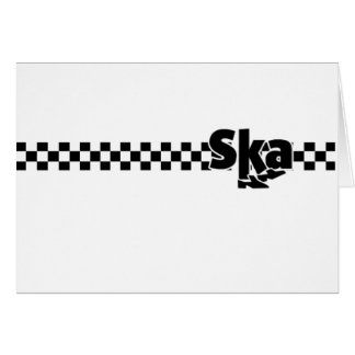 Cartão Pés de dança de SKA com verificadores