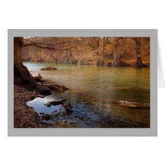Cartão Pesca de fluxo do outono do rio da paisagem 25
