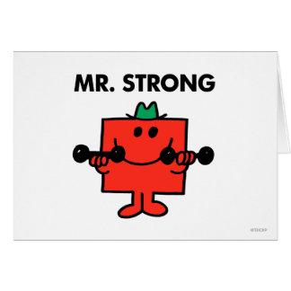 Cartão Pesos de levantamento do Sr. Forte  