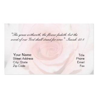 Cartão pessoal do 40:8 de Isaiah Cartao De Visita