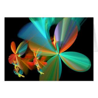 Cartão Pétalas alaranjadas da flor da arte do Fractal da