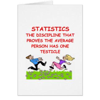 Cartão piada das estatísticas
