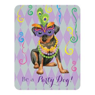 Cartão Pin do minuto do carnaval