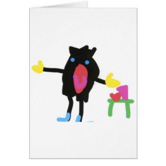 Cartão Pingu - colheita do crescimento do sacudir