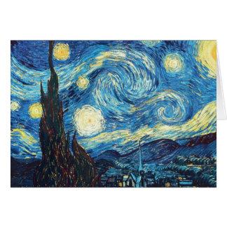Cartão Pintura da noite estrelado de Van Gogh