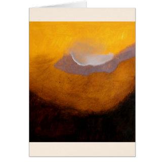 Cartão Pintura de paisagem abstrata com nuvem