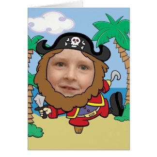 Cartão Pirata engraçado modelo cortado da cara