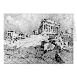 Cartão Piscina 1913 do Partenon