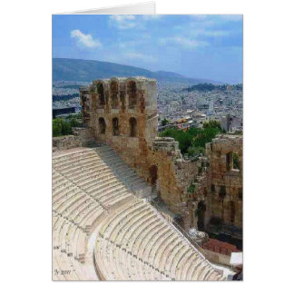 Cartão Piscina de Atenas o Colosseum