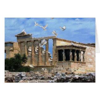 Cartão Piscina de Erechtheum Atenas da acrópole