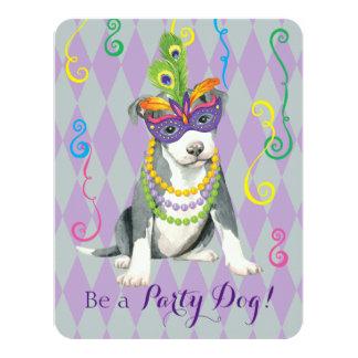 Cartão Pitbull Terrier do carnaval