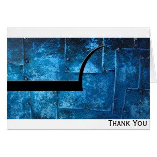 Cartão Placas de metal azuis