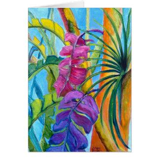 Cartão Plantas tropicais