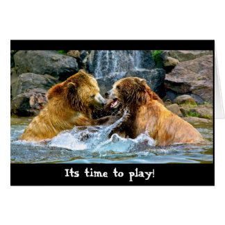 Cartão Playtime do urso