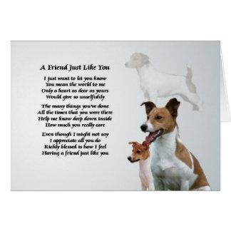 Cartão Poema do amigo de Jack Russell