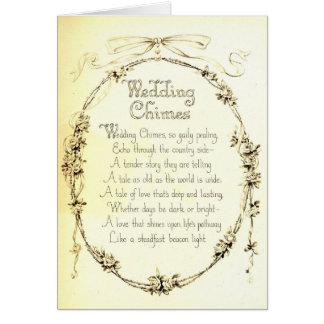Cartão Poema do casamento vintage