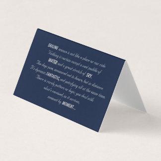 Cartão Poema dos oceanos da navigação