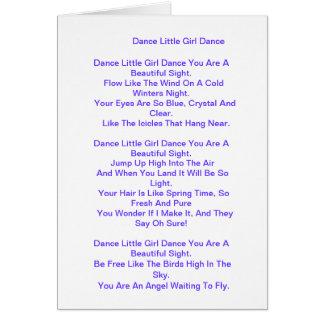 Cartão Poema para a filha/filha da etapa/filha grande
