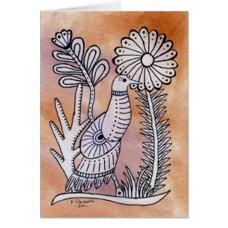 Cartão Pomba, estilo mexicano do latido