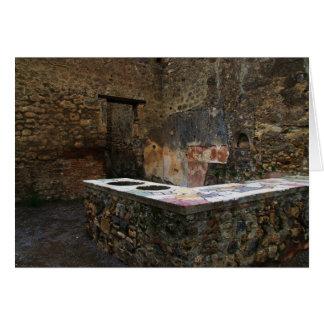 Cartão Pompeii - lugar comendo