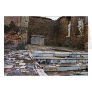Cartão Pompeii - Macellum ou mercado