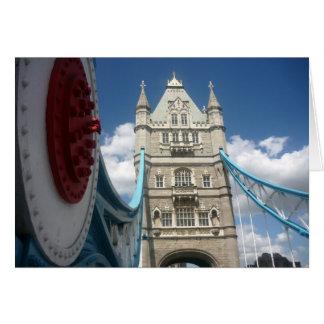 Cartão ponte da torre da suspensão