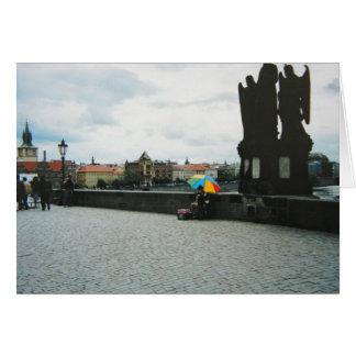 Cartão - ponte de Charles Praga