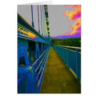 Cartão ponte de suspensão do menai