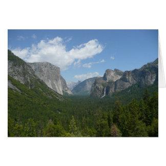 Cartão Ponto da inspiração no parque nacional de Yosemite