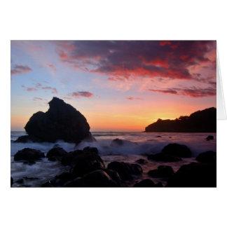 Cartão Por do sol da praia de Muir
