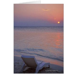 Cartão Por do sol e mar