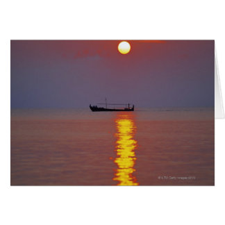 Cartão Por do sol e mar 2